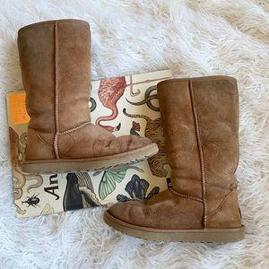 UGG Australia classic tall II chestnut suede boots